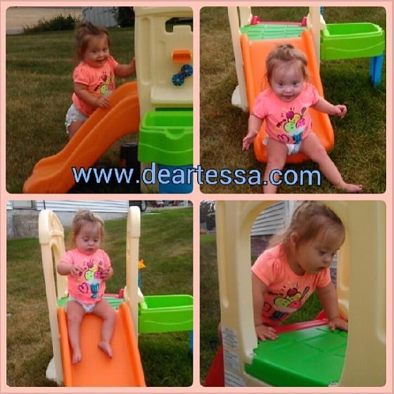 Tessa exploring