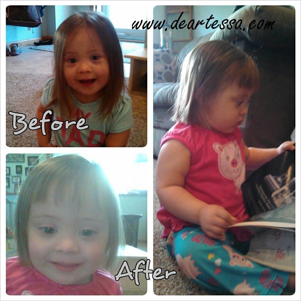 Dear Tessa First Haircut Trisomy Twenty Onederful